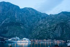 Twilight in Kotor, Montenegro Stock Photography