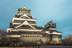 Twilight of Kumamoto Castle in Northern Kyushu, Japan Royalty Free Stock Photo