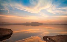 Twilight on a Lake Royalty Free Stock Photo