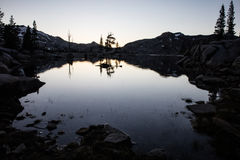 Twilight and Lake in Desolation Wilderness Royalty Free Stock Images