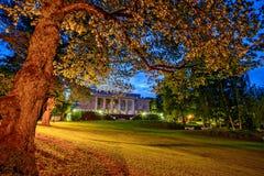 Twilight landscape on estate Stock Photography