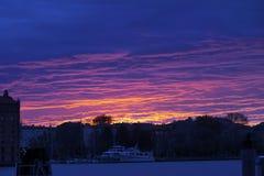 Twilight landscape in Venice royalty free stock photo