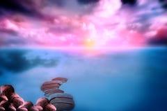 Twilight Landscape waterscape Stock Images
