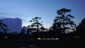 Twilight and lightning around camping on Phukardueng Nation Park stock video