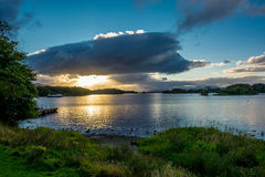 Twilight at Lough Leane in Ireland Stock Images