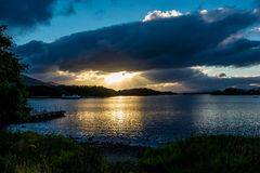 Twilight at Lough Leane in Ireland Royalty Free Stock Images