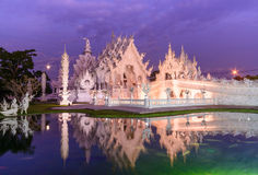 Twilight of magnificent temple and water reflection Royalty Free Stock Photo