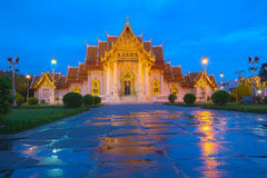 Twilight on Marble Temple Stock Photos