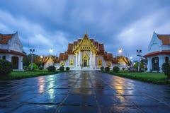 Twilight at Marble Temple, Bangkok Thailand Royalty Free Stock Photos