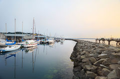 Twilight marina Royalty Free Stock Photography
