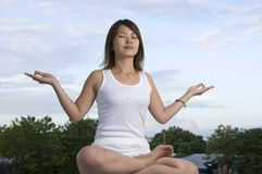 Twilight meditation Stock Image