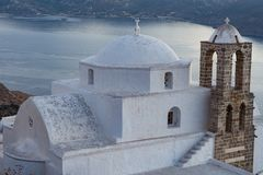 TWILIGHT IN MILOS ISLAND stock photos