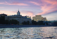 Twilight in Moscow Royalty Free Stock Photography