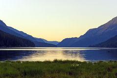 Twilight on a Mountain Lake Royalty Free Stock Image