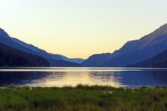 Twilight on a Mountain Lake Royalty Free Stock Image