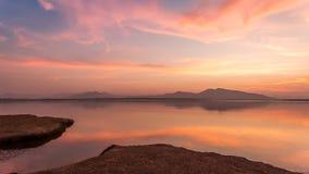 Twilight on a Mountain Lake Stock Photos