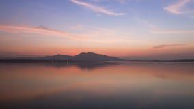 Twilight on a Mountain Lake Stock Image
