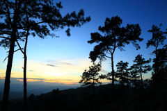 Twilight mountain. Twilight  in meahongson province, thailand Stock Image