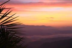 Twilight mountain Stock Images