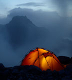 Twilight in the mountains Royalty Free Stock Photo