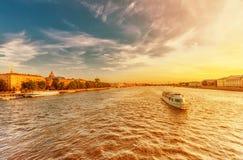 Twilight at the Neva river Royalty Free Stock Image