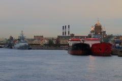 Twilight on the Neva Stock Photos