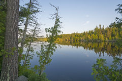Twilight on a North Woods Lake Royalty Free Stock Photography