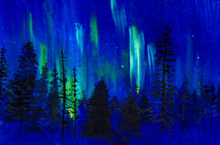 Twilight and northern lights Royalty Free Stock Photography