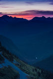 Twilight From Oberlin Mountain Royalty Free Stock Photography