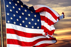 Twilight Old Glory Stock Photography