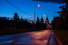 Twilight outskirts of the city Stock Images