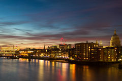 Twilight over the city of London Royalty Free Stock Images