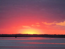 Twilight over the Estaury Royalty Free Stock Photo