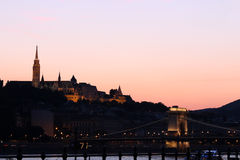 Twilight over Fishermans Bastion Stock Image