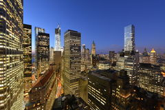Twilight over Lower Manhattan Royalty Free Stock Photos