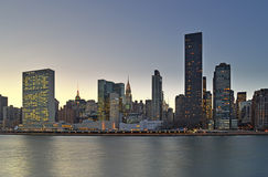 Twilight over Manhattan. Royalty Free Stock Images