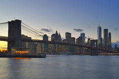 Twilight over a Manhattan. Stock Photos