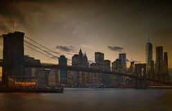 Twilight over a Manhattan. Royalty Free Stock Photography