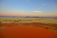 Twilight over the Namib Royalty Free Stock Photography