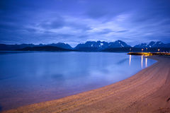 Twilight Over The Lyngen Alps In Northern Norway Stock Photos