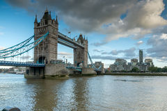 Twilight over Tower Bridge in London, England Stock Image