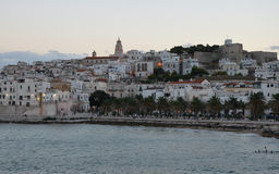 Twilight over the Vieste town Royalty Free Stock Photo