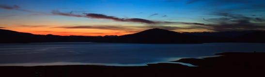 Twilight panorama Stock Photo