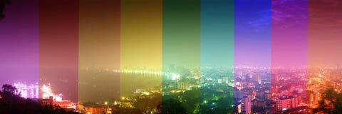 Twilight panorama Pattaya Royalty Free Stock Photos