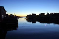 Twilight at Peggy's Cove, Nova Scotia Royalty Free Stock Images