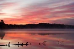 Twilight, Pete's Lake Stock Photo