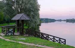 Twilight on the ponds Nesvizhsky Park Royalty Free Stock Photography