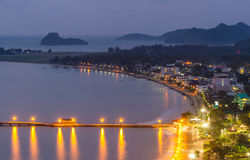 Twilight Prachuap Bay Royalty Free Stock Photos