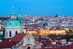 Twilight Prague Royalty Free Stock Images