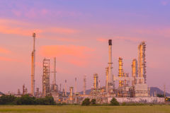 Twilight of refinery plant. Stock Images